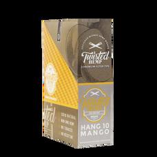 Twisted Hang 10 Mango Flavor Designer Hemp Wraps - 2 Count Packs