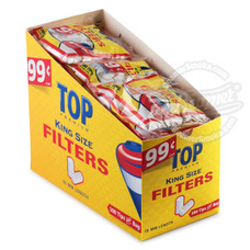 Top King Size Cotton Filter Tips - 200-Count Bag