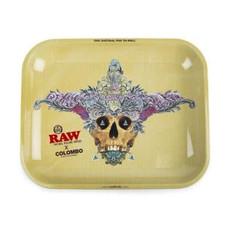 """Raw Large Metal Rolling Tray, Columbo Design - 14"""" x 11"""""""