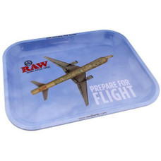 """Raw Large Metal Rolling Tray, Flying Design - 14"""" x 11"""""""