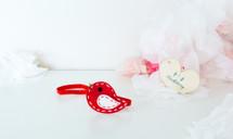 Felt Birdy Headband - Red