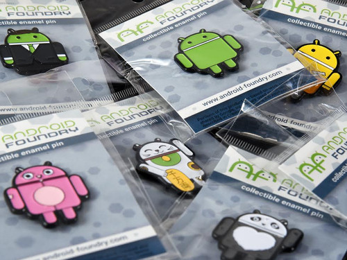 Green Android Enamel Pin