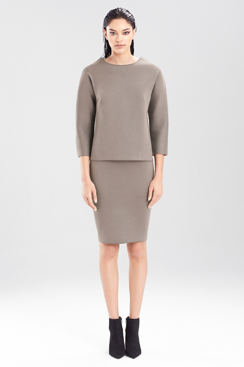 Buy Josie Natori Double Face Bonded Jersey Pencil Skirt from Josie ...