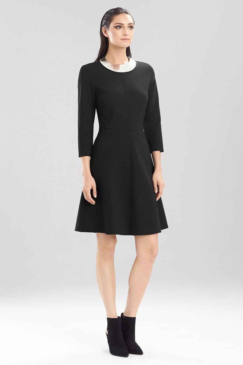 Black dress jersey - Double Knit Jersey Dress At The Natori Company