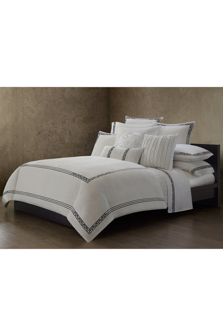 Ming Fretwork White/Black Sham at The Natori Company