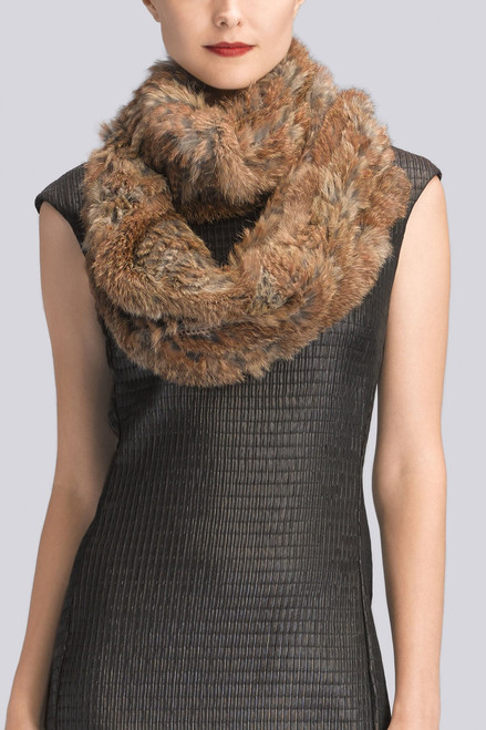 Buy Josie Natori Knitted Fur Scarf from