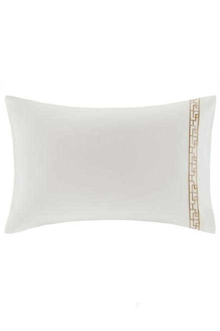 Ming Fretwork White/Champagne Pillow Case at The Natori Company