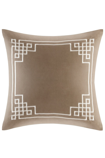 Buy N Natori Fretwork Aqua Euro Sham from