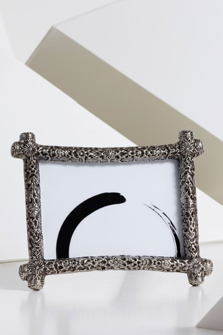 Toren Gate Semi Round Picture Frame with Hammered Effect at The Natori Company
