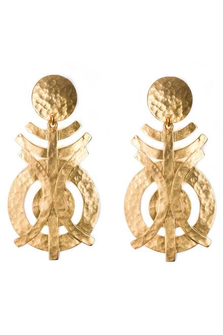 Buy Gold Geo Earrings from