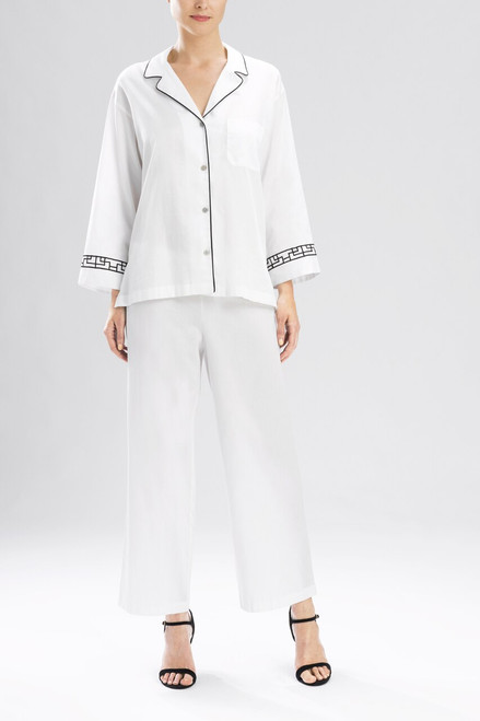 Natori Ming Notch PJ with Embroidery at The Natori Company