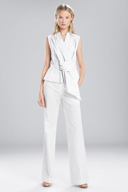Josie Natori Cotton Shirting Sleeveless Top at The Natori Company