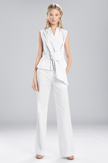 Buy Josie Natori Cotton Shirting Sleeveless Top from