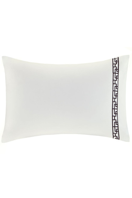 Buy Ming Fretwork White/Black Pillow Case from