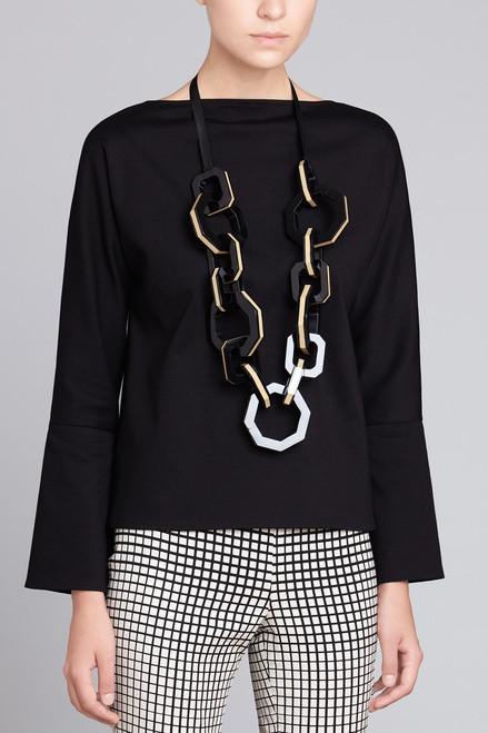 Josie Natori Interlock Necklace at The Natori Company