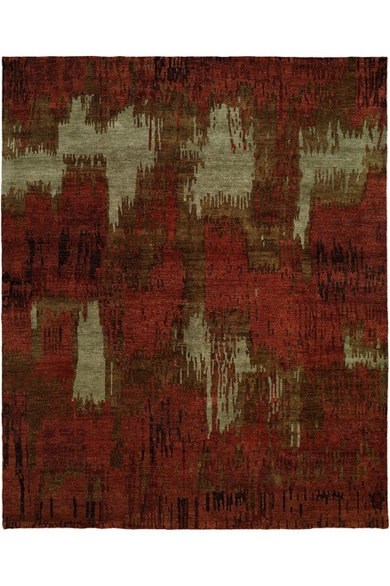 Buy Natori Dynasty- Brushstroke Red Tones Rug from