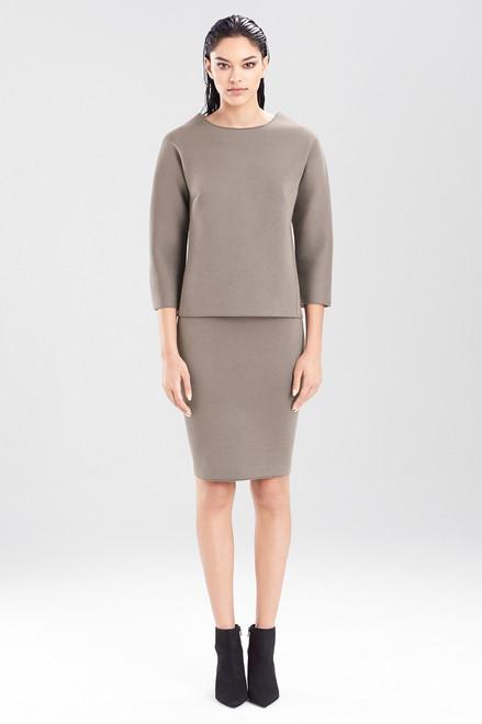Josie Natori Double Face Bonded Jersey Pencil Skirt at The Natori Company
