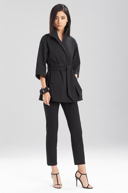 Buy Structured Texture Belted Jacket from