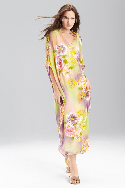 Buy Josie Natori Floral Print Silk Caftan from