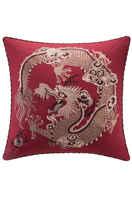 Buy Natori Fretwork Dragon Euro Sham from