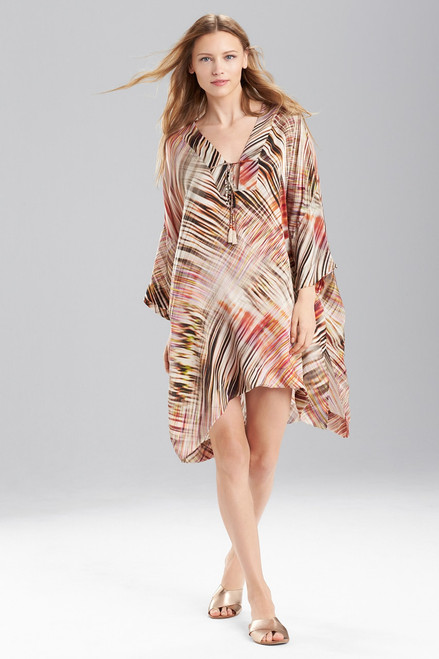 Buy Josie Natori Printed Silk Charmeuse Tunic from