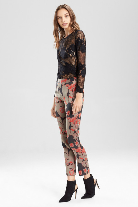 Buy Flower Jacquard Pants from