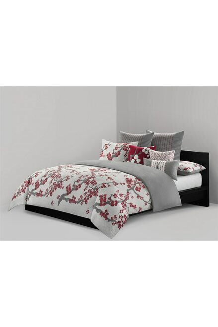 N Natori Cherry Blossom Geometric Square Pillow at The Natori Company