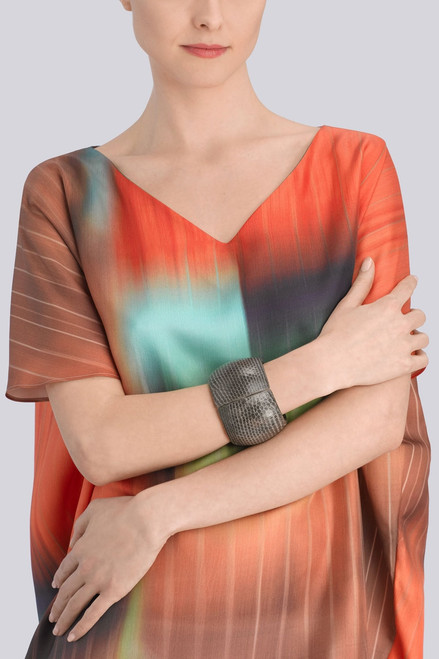 Josie Natori Rounded Snakeskin Bangle at The Natori Company