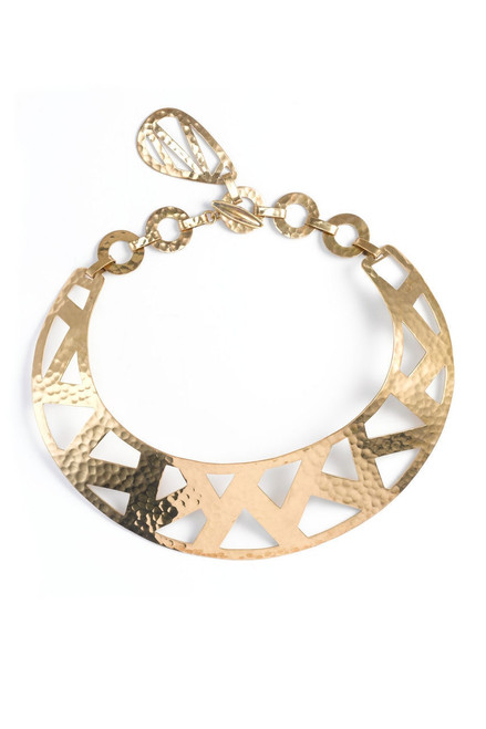 Buy Josie Natori Geometric Gold Necklace from