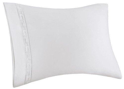 Ming Fretwork White/White Pillow Case at The Natori Company