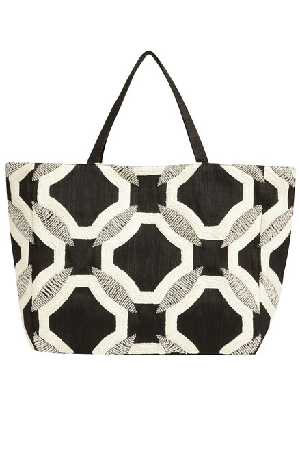 Buy Josie Natori Contrast Geo Bag from