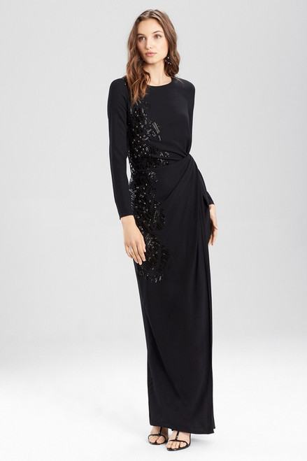 Buy Josie Natori Crepe Twist Dress With Embellishment from