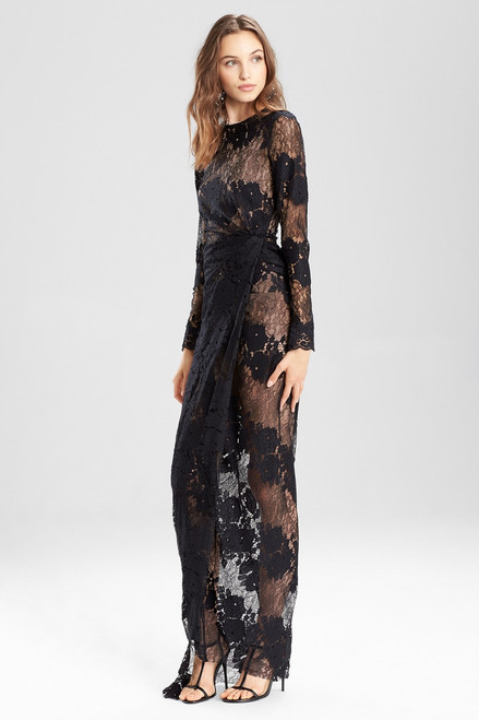 Buy Josie Natori Lace Long Twist Dress from