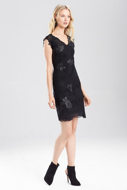 Buy Josie Natori Duchess Satin Mesh Cocktail Dress from