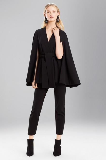 Buy Josie Natori Double Knit Jersey Cape Jacket from
