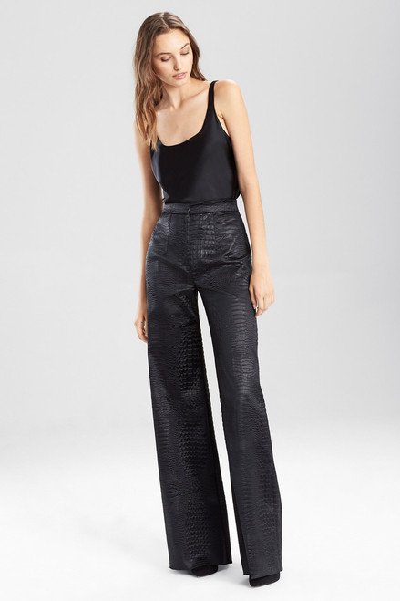 Buy Josie Natori Stretch Embossed Crocodile High Waisted Pants from