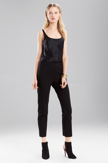 Buy Josie Natori Double Knit Jersey Classic Ankle Pants from