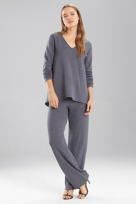 Buy Natori Brushed Long Sleeve V-Neck Top from