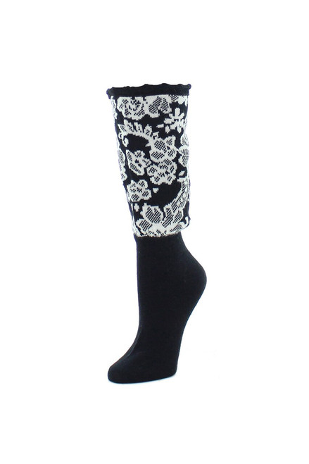 Buy Natori Damask Boot Topper Crew Socks Style NTF6-5600 from