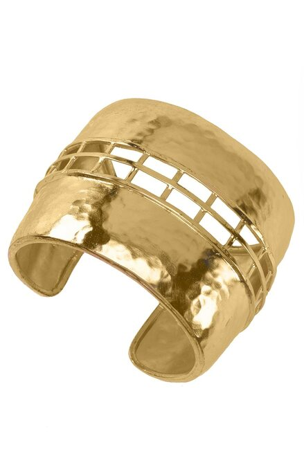 Buy Josie Natori Gold Brass Cage Bracelet from