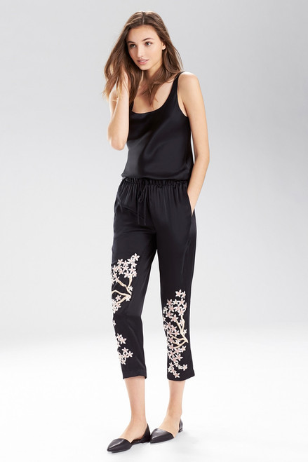 Buy Josie Natori Black Petals Pants from