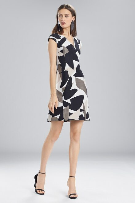 Buy Josie Natori Abstract Printed Jacquard Sleeveless Seam Dress from