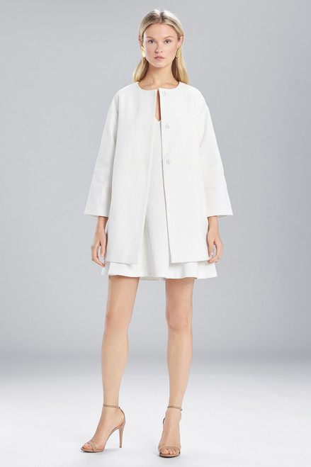 Buy Josie Natori Textured Cotton Long Topper from
