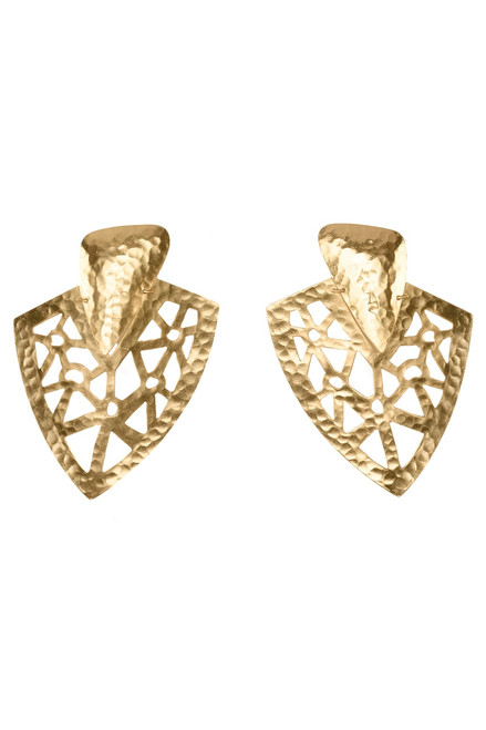 Buy Josie Natori Goldplated Brass Cutout Earrings from