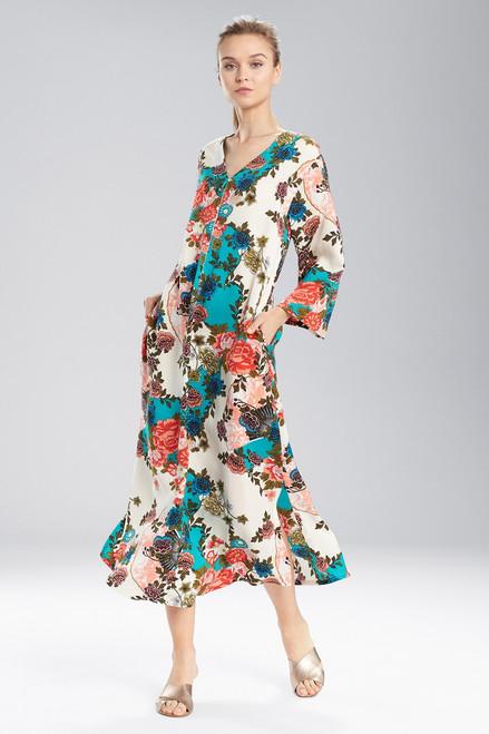 Buy N Natori Blossoming Fans Zip Caftan from