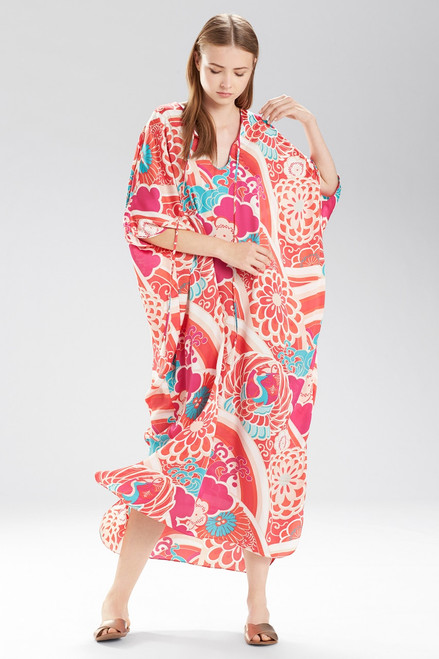 Buy Natori Obi Crane Long Caftan from