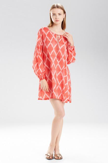 Buy Natori Ikat Peasant Tunic Shirt from
