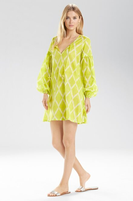 Buy Natori Ikat Peasant Tunic Shirt from