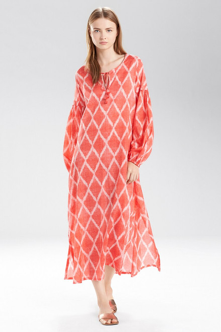 Buy Natori Ikat Diamond Peasant Caftan from
