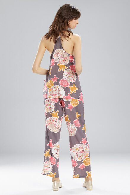 Josie Enchanted Garden PJ Set Charcoal With Hibiscus at The Natori Company